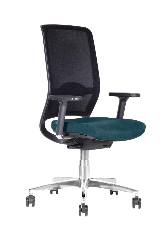 BB108 sedia per ufficio con schienale in rete - turchese dx