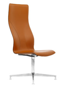 BB600 sedia ufficio in pelle ergonomica - vera pelle cuciture artigianali