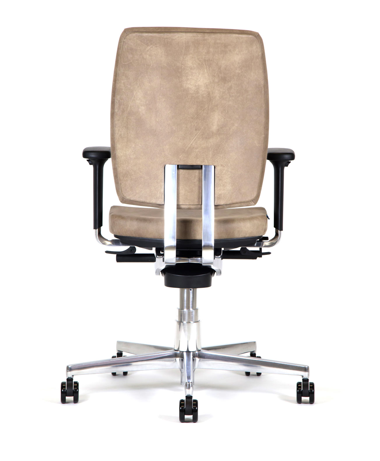 Bb219 sedia ufficio direzionale Kleos rivestita in pelle