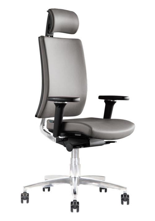 Sedia ufficio direzionale in pelle Kleos BB211