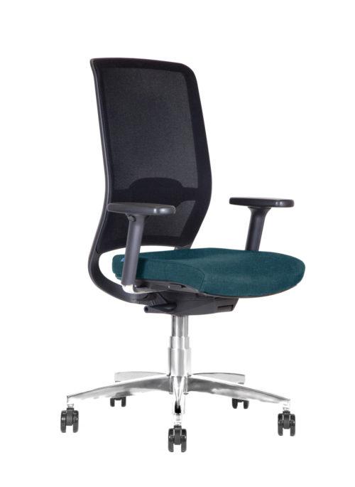 BB108 sedia per ufficio con schienale in rete - turchese