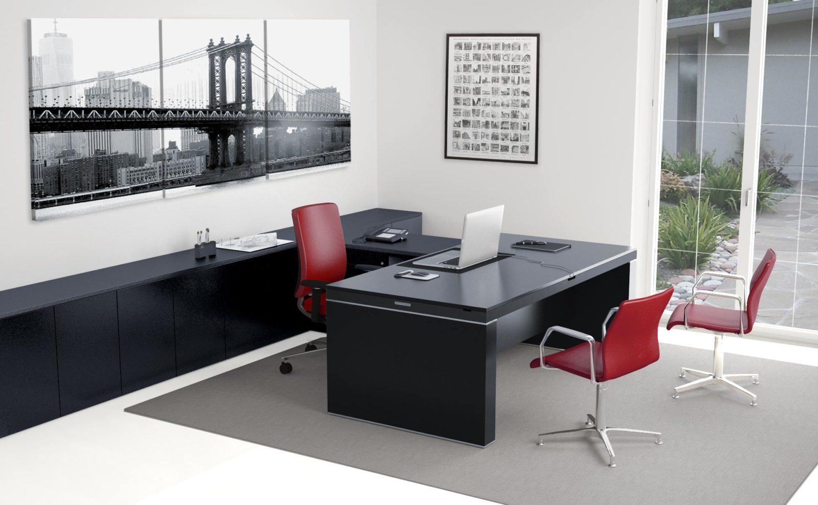BA4.10 scrivania regolabile in altezza e cablata