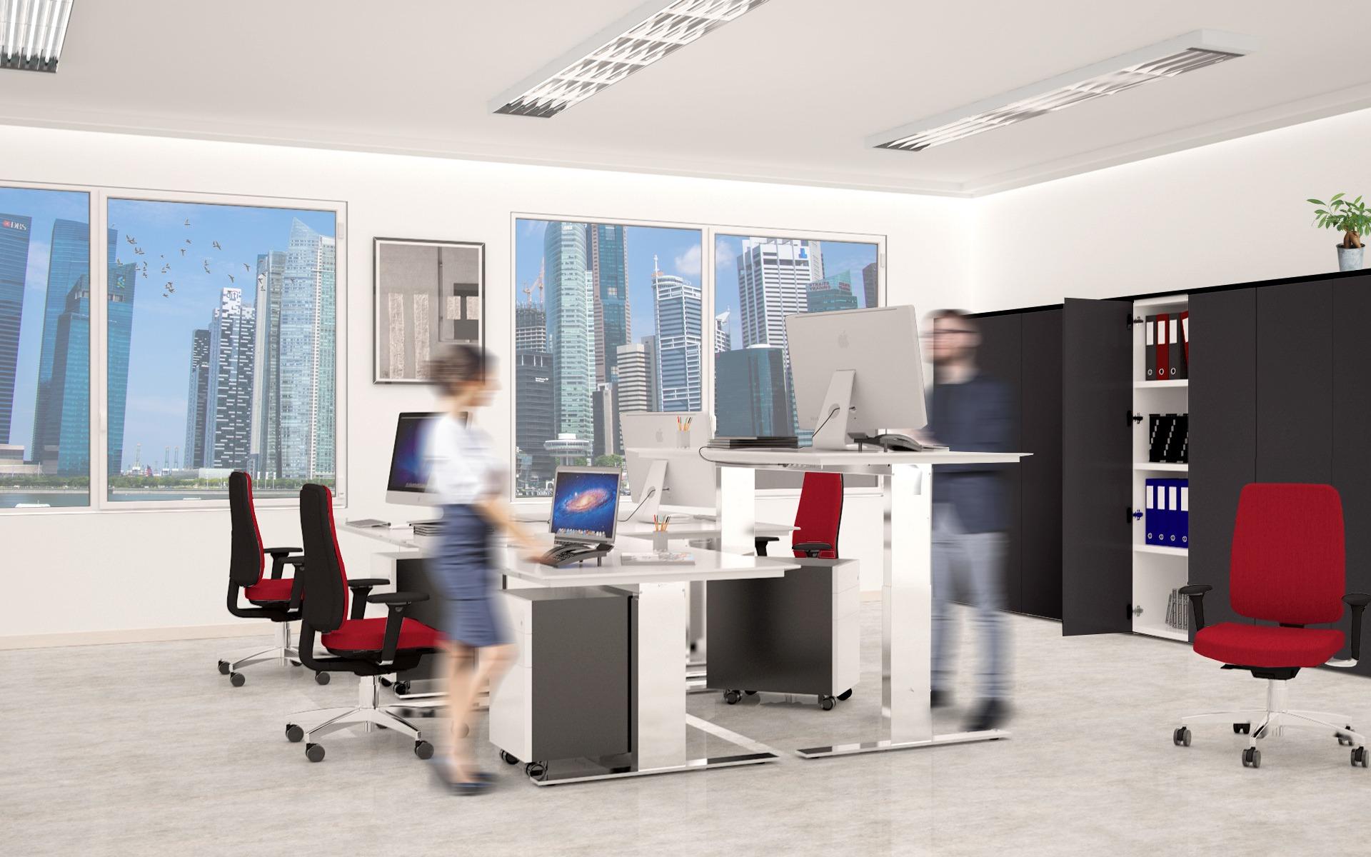 BA4.15 - la scrivania ergonomica in ufficio