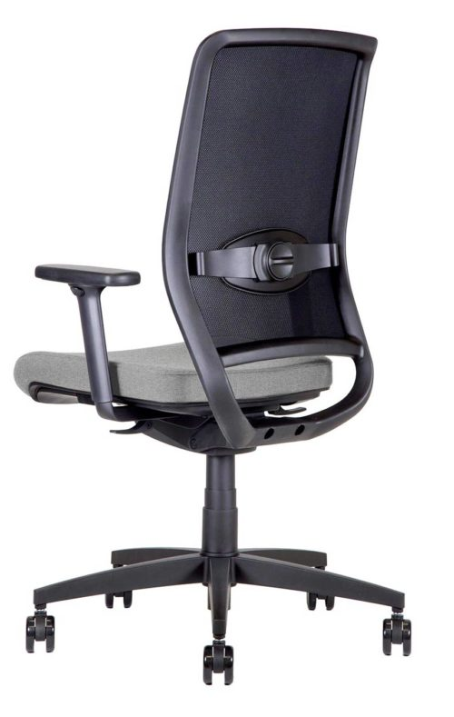 BB106 argento Sedia ufficio girevole 3qr