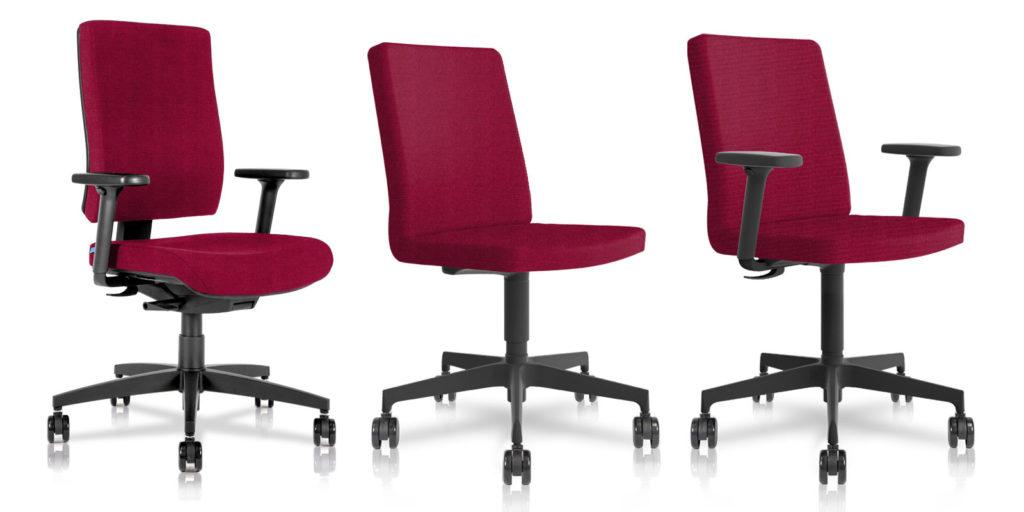 BB105 sedia ufficio  coordinata con BB405.3 e BB405.7