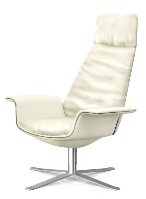 Cream colored leather upholstery
