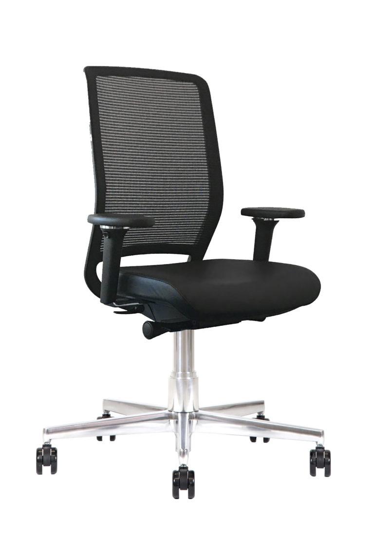 Sedia ufficio in pelle Kleos BB214 Nero