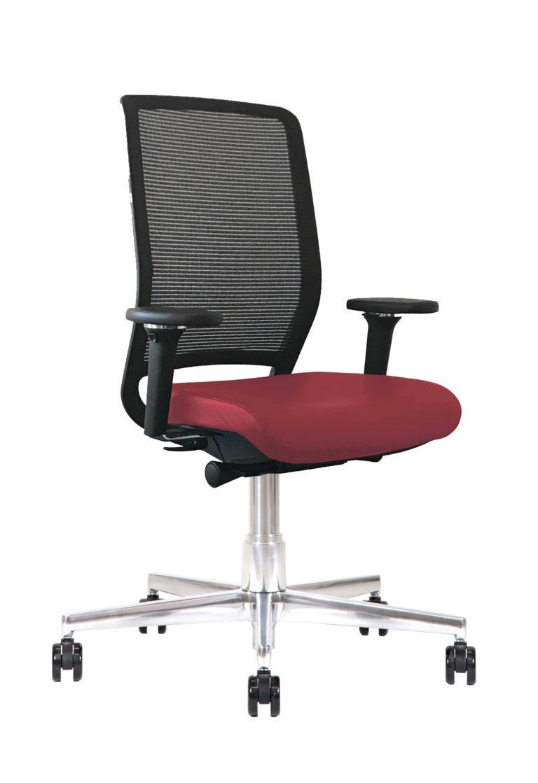 Sedia ufficio in pelle Kleos BB214 Rubino